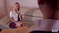 Naughty teen Christen Courtney gets her snatch stuffed by English tutor
