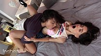 Lesbea Gorgeous brunettes Cassie Del Isla and Lana Seymour passionate lesbian pussy eating