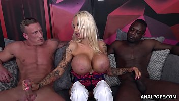 Ultimate Bitch Sophie Anderson Getting Double Penetrated - Interracial Threesome