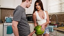 StepSister Caught Her Brother Masturbating With A Watermelon - Taboporn