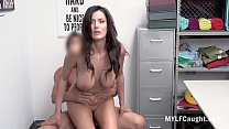 Busty Brunette MILF Caught By Cop And Fucked- Becky Bandini