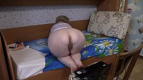Anal masturbation in front of a webcam. A mature housewife in a private sex chat shows her hairy vagina and an asshole, shakes her plump booty. Home play and dirty foot fetish.