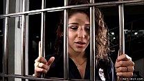 Lesbian guard anal fucks inmate