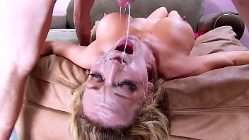 Throat Gagging! Big Tits & Face Fuck Cum Swallowing. On Her Knees and Upside Down Hard Deepthroat 31 min