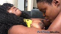 Black lesbian tit-sucking