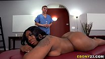 BBW Ebony Ms London Gets Fucked Hard After Massage