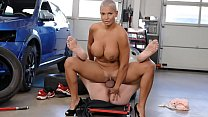 Busty Euro Goddess Thanks Mechanic With Rimming and Fuck - Chloe Lamour