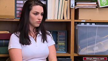 Busty tatted babe gets c. by officer