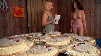 WAM Pie Fight Between Busty Terra Mizu and Fifi Foxx