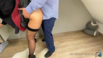 boss fucks secretary in leather skirt - business-bitch