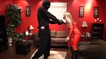 * Red latex girl is robbed and fucked p.