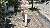 Transparent dress on the street 5 min