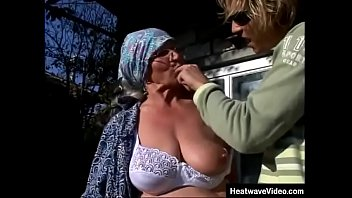 Young grandson really knows how to make his slutty grandma moan!