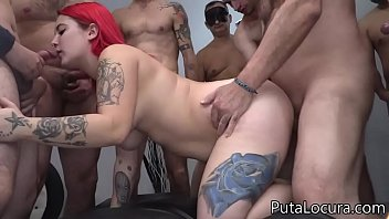7 cumshots on the chubby redhead's pussy