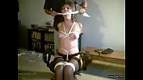 my naughty slave girl Lindsey wrapped in ropes