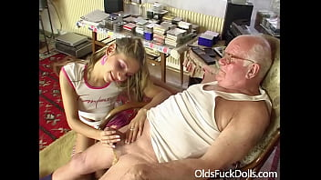 Grandpa Mireck bangs cute 18yo girl Rachel Evans 6 min