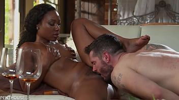Must see interracial porn with Channel Heart working her big bubble butt