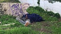 Homeless Guy Masturbating in Park