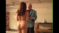 Whipping a naked girl