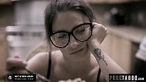 Hot nerd Kristen Scott gets her holes filled by two jocks