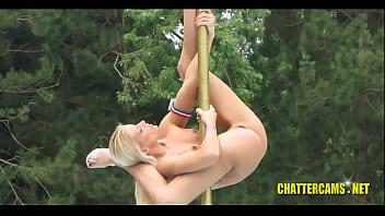 Nudist Camp Naked Babes Pole Dancing