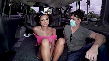 BANGBROS - Busty Black Babe Alina Ali Taking Dick From Preston Parker On The Bang Bus