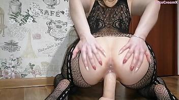 Minx Fucks Herself Hard Dildo & Jerks Pussy Getting Squirt