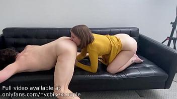 Dakota Burns gives a guy a rimjob until he cums