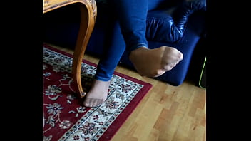 my girl is doing different nylon feetplay