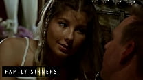 After out when her Mother was out of town (Vienna Rose) shared an illicit kiss with her stepfather Mark - Family Sinners
