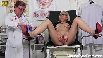 Gyno exam of small slim mature woman