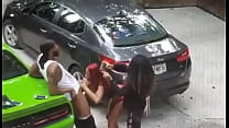 thot giving head outside while her bestfriend film her