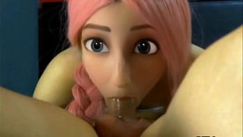 una mamada rápida de una muñequita