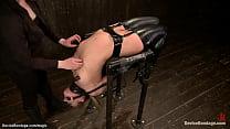 Sub in latex stockings in metal device
