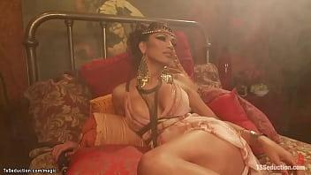 Big cock TS Goddess anal fucking slave