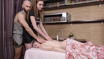 Tricky-Masseur.com - Kira Stone & Mellisandra - Massage master-class turns into an orgy