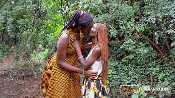 African Stepmom Teaching Horny Teen Daughter 2 min