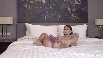 Passionate anal masturbation with favorite toy until best anal orgasm with PassionBunny