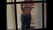 Spying through window caught my mom having fun on web cam
