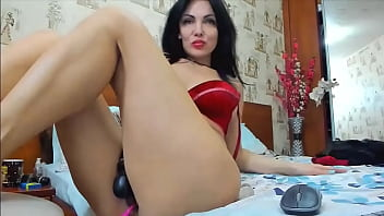 A mature slut obediently obeys the orders of a young scoundrel, unaware that she is in a private show with her own son!