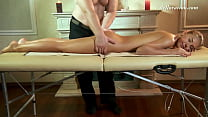 Sweet virgin pussy babe Masha Roofkina massaged