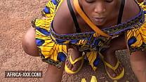 Black banana seller girl seduced for a hot sex