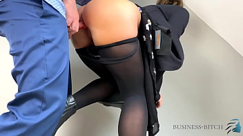 young business woman used in her sexy nylons - pantyhose compilation, business-bitch