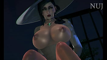 Hot Vampire Milf Lady Dimitrescu - Getting hard Cowgirl Fucked - Resident Evil Village Hentai