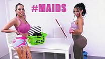 BANGBROS - Canela Skin & Katrina Moreno Might Be The Hottest Maids Ever I Wonder If They Accept DOGE