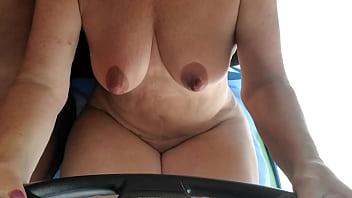 Mrs Curvyliscious Rides Topless