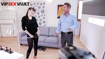 VIP SEX VAULT - Luna Rival and David Perry - French Cutie Fucks With Porn Agent Even If The Camera Guy Didn't Arrive Yet