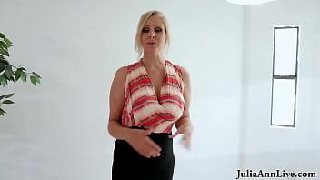 Dick Milking Milf Julia Ann Gives Cock Slobbering BJ To Sell House!