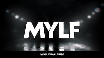 Two Hot Cougar Step Moms Lauren Phillips & London Rose Swap Fuck Their Step-sons - Teaser