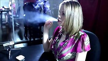 Smoking Fetish - Eight Minutes - Eve Smoking Topless